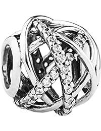 TAOTAOHAS Antigüedad S925 Plata Libra Esterlina Construcción Charms Beads Perla [Serpentina Abierto] Ir Europeo Cadena Pulseras