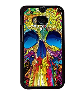 printtech Skull Abstract Pop Back Case Cover for Huawei Honor 7 Enhanced Edition; Huawei Honor 7 Dual SIM with dual-SIM card slots