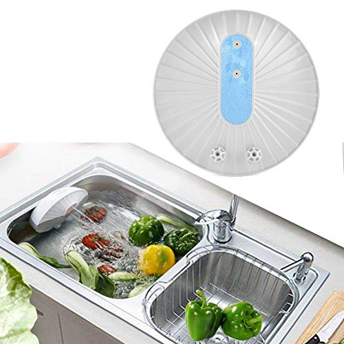 Mini Geschirrspüler Gemüse Obst Waschmaschine USB Charge Ultraschall Smart Home Einfach zu bedienen für Küchenwerkzeuge (Farbe : Blau)