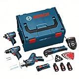 Bosch 0 615 990 DR3 Werkzeugsatz 10,8 V GSR + GDR + GOP + GSA + GLI 10,8 V Li, mit L-Boxx-Koffer, 3 Batterien und Zubehör