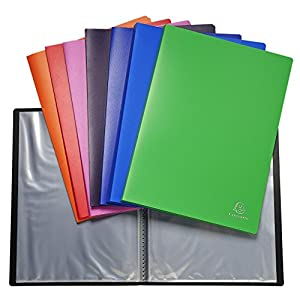 Exacompta 8820E - Pack of 10 folders of 20 PVC, A4, multicolored covers