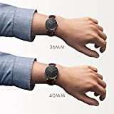 Daniel Wellington DW00100127 Orologio Unisex con cinturino in pelle, Nero - Daniel Wellington - amazon.it