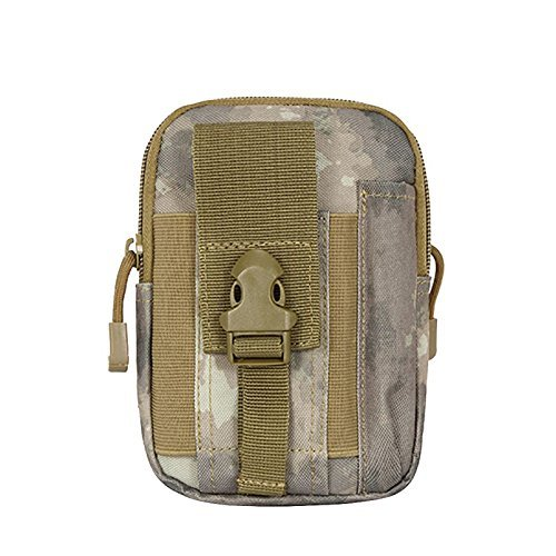 Pureed Outdoor Tactical First Aid Molle EDC Pouch Survival Combat Medical Waist Bag Multi Purpose Utility Gadget Bag (Color : ATS, Size : One Size) - First Safety Bag