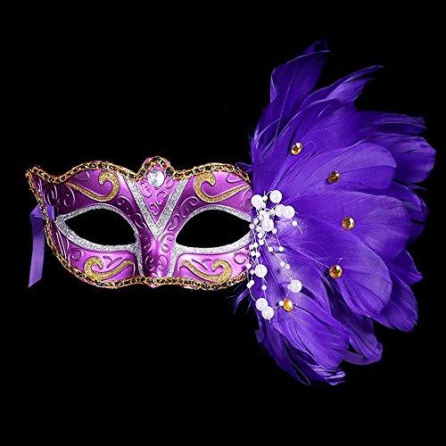FHDUY Halloween Maske Kindertag Maske Neue Europäische und Amerikanische Maske Venedig Prinzessin Schleier Sexy Party Maskelila Blume