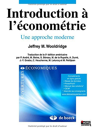 Introduction à l'économétrie par Jeffrey Wooldridge