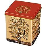 Fridolin 19312 Klimt árbol de la vida-Caja de té metal, 8 x 6,8 x 6,8 cm