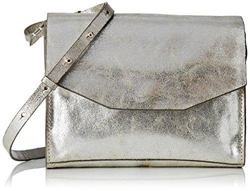 Clarks Treen Island Damen Henkeltaschen 7x18x23 cm (B x H x T), Silber (Silver Leather) - Für Taschen Frauen Clark