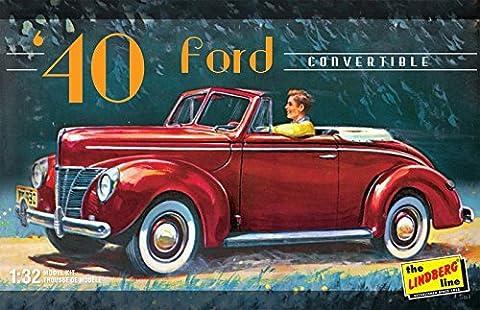 Lindberg Models 1:32 Scale 1940 Ford Convertible Model Kit by Lindberg Models