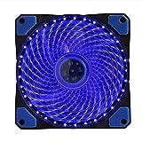 ALMD Golden Settore Bagliore dei Fan di 12 cm di Tipo Ombra ha portato Il Computer di Potenza Fan Muto di 12 cm. Fan. La Luce della Lampada 12033 Blu