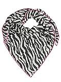 Zwillingsherz Dreieckstuch mit Kaschmir - Hochwertiger Schal mit Zebra-Muster für Damen Jungen Mädchen - XXL Hals-Tuch und Damenschal - Strick-Waren für Sommer und Winter von Cashmere Dreams ant