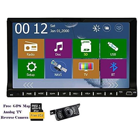 Eincar 7inch 2DIN universale bluetooth lettore DVD con navigazione GPS
