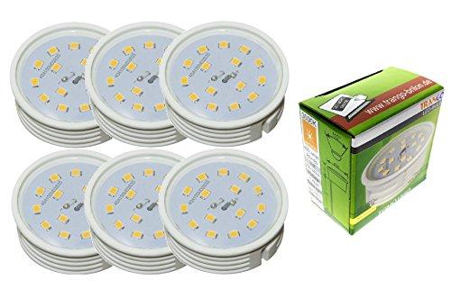 6unidades ultra plano regulable LED Module 3000K Cálida de color blanco solo...
