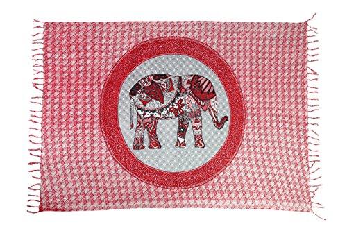 Ciffre Sarong Pareo Wickelrock Strandtuch Tuch Schal Hüftrock Lunghi Dhoti Afrika Elefant Elefanten Muster Afrika Tischdecke Decke -