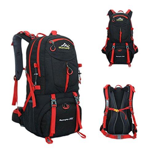 50L 40L Zaino Outdoor borsa sportiva viaggio zaino trekking in bicicletta il sacchetto impermeabile Arrampicata Zaino , orange 50l black 40l
