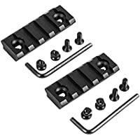 2 Pack, 5-Slot Keymod Rail Section Picatinny Rail for Key Mod Handguard Mount Rail Sytstem by SUGEAR