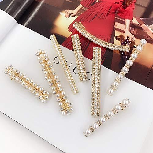 Alfileres perlas, Joyas perlas blancas artificiales
