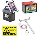 DUO Weidezaungerät PREMIUM SOLAR - 12V, 9V inkl. Batterie, Solar, komplettes Zubehör zum Anschluss - Sparen Sie sofort Geld !