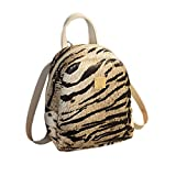 Borsa a Tracolla per Donna, Zariavo Wave Borsa Tiger Leopard Small Backpack