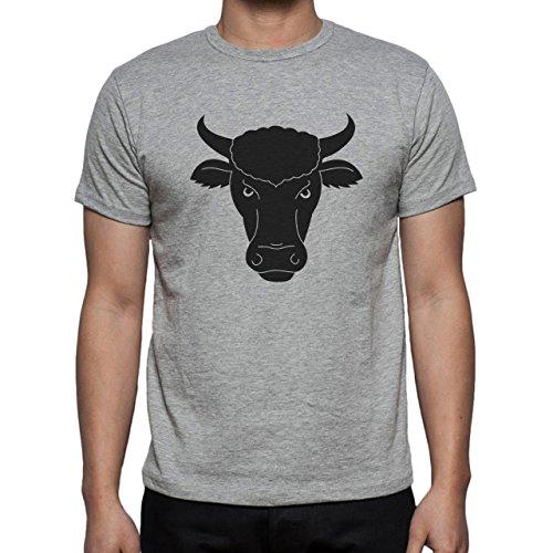 Bull Cow Animals Farm Black Calm Herren T-Shirt Grau