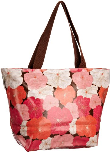 Re-uz Medium Oilcloth Tote Hibiscus, Borsa tote donna
