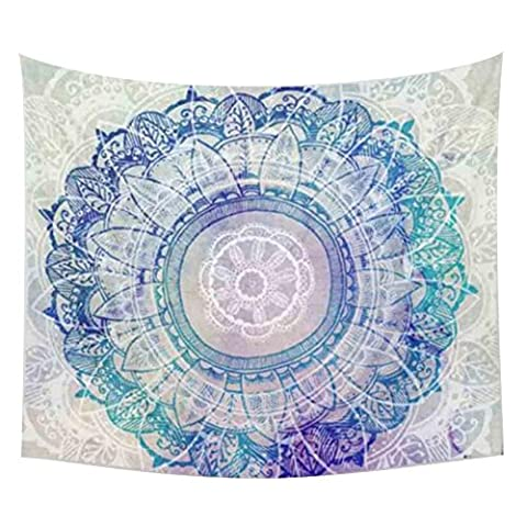 Enipate Elegant Bohemian Tapestry Colored Printed Decorative Mandala Tapestry Indian Boho Wall Carpet (9)