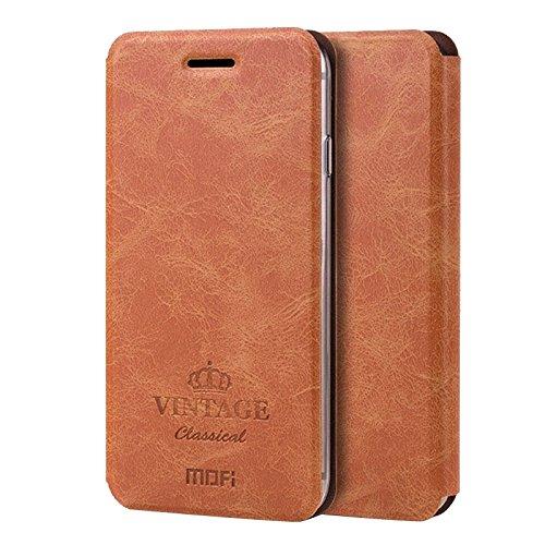 Phone case & Hülle Für IPhone 6 / 6s, Crazy Pferd Textur Horizontale Flip Leder Tasche mit Card Slot & Halter ( Color : Brown ) Brown