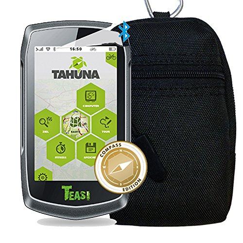 TEASI ONE 3 eXtend - Fahrrad- & Wandernavigation + Tasche + USB Netzteil