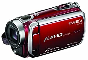 Yashica CMH50 Caméscope à mémoire Flash Port SD/Memory Stick Full HD 5 Mpix Rouge