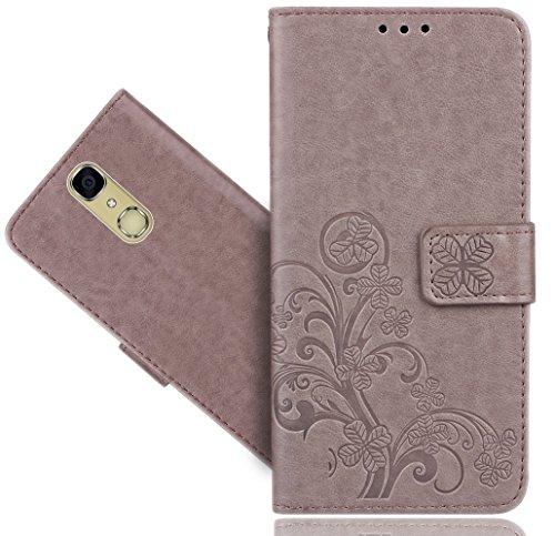FoneExpert® CUBOT X18 4G Handy Tasche, Wallet Case Cover Flower Hüllen Etui Hülle Ledertasche Lederhülle Schutzhülle Für CUBOT X18 4G