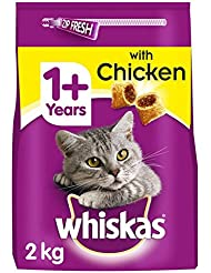 Whiskas 1+ Cat Complete Dry with Chicken, 2 kg