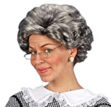 Widmann wdm5961b–Kostüm für Erwachsene Perücke Agatha in Beutel, grau, Einheitsgröße