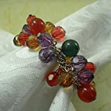 X7 Multi colori acrilici Beads Wedding Portatovagliolo set di 12, Dia 4,5 centimetri