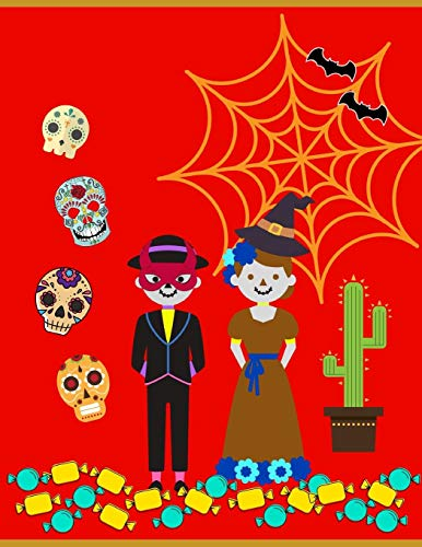 2020: Planner - 1 Day per Page - January to December 2020-  Agenda, Calendar, Schedule Organizer and Journal Notebook - Mexico Fiesta de Muertos. Halloween (Halloween-y Dia De Muertos)