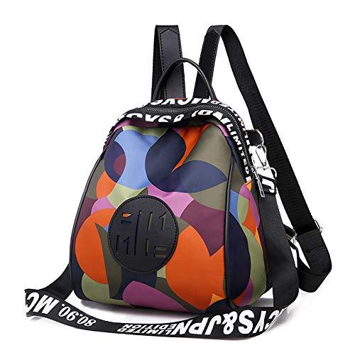 WFire Mode Damen Rucksack Tasche Leder Daypack wasserdichte Handtasche Leder Backpack Freizeitrucksack Anti-Diebstahl-Rei?Verschluss Schultertasche Ledertaschen für Frauen
