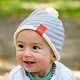 MyOma Baby Stricken * DIY Set Baby Mütze und Söckchen * Strickset Baby mit 3 Knäuel Baumwolle Cotton Pure, Strickanleitung, GRATIS Label - Babysocken Stricken Set + Strickset Babymütze - Baby DIY