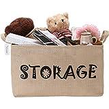 Große Kapazität Storage Bin Korb mit Griffen für Kinder Wäscherei Kinderzimmer Regale