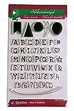Djetelina - Timbro in Silicone con Lettere dell'alfabeto, Numeri, Palloncini e bandierine, 48 Pezzi