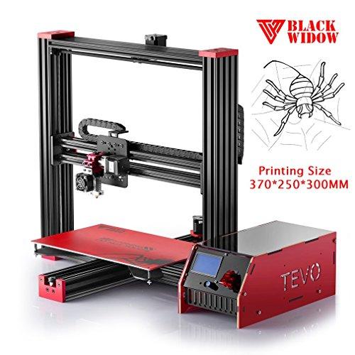 TEVO Hochleistungs 3D Drucker Alle Metall Hot End Druckmaschine Max Druckgröße 370 * 250 * 300mm Aluminium Rahmen Black Widow (Rahmen Motorhalter)