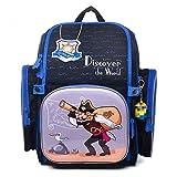 Delune Backpack Cartable Fille Cartable garçon Sac à Dos Enfant Cartable Maternelle Cadeau de rentrée Scolaire (Pirate)