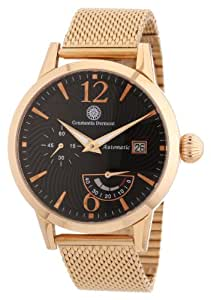 Constantin Durmont Herren-Armbanduhr XL Papillon Analog Automatik Edelstahl beschichtet CD-PAPI-AT-RGM3-RGRG-BK