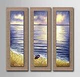 AYANGZ 100% handgemalte Ölgemälde - Landschaftsmalerei in Leinwand Textur Palette Wohnzimmer Esszimmer Dekoration Kunst, 3pc, 11 * 35 Zoll,15 * 47inch
