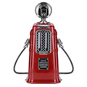 VBESTLIFE Double Guns Wein Getränkepumpe,1000cc Alkohol Bier Dispenser für Bars, Hotels, Teehäuser, KTV, Familie usw.(Rot)