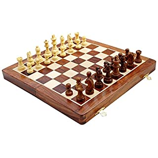 Avs Stores ® Wooden Magnetic Travel Chess Set-Ultimate 12