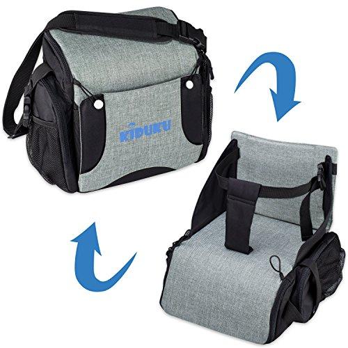 KIDUKU® Boostersitz faltbar, mobiler Kindersitz als Sitzerhöhung und Reisesitz, ideal als Hochstuhl für unterwegs für Babys & Kleinkinder