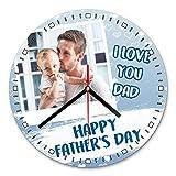 LaMAGLIERIA Reloj de Pared Personalizado con tu propria Foto - I Love You Dad - Reloj de Pared en...