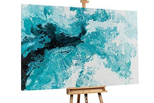 Quadro da parete dipinto in acrilico arte moderna in un pezzo Dipinto in acrilico KunstLoft/® La rivolta dei colori in 60x60cm Tulipani fiori colorato Tele originali manufatte XXL
