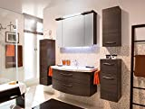 PELIPAL Cassca 3 tlg. Badmöbel Set / Waschtisch / Unterschrank / Spiegelschrank inkl. Beleuchtung /