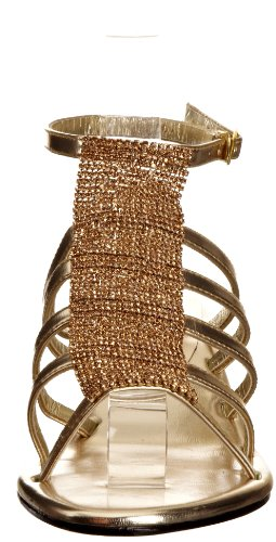Unze Evening Sandals, Sandali donna Oro (Gold (L18311W))