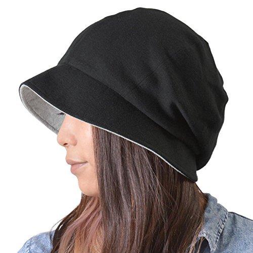 Casualbox Damen Sonne Hut Bio Baumwolle wendbar Japanisch Design Schwarz