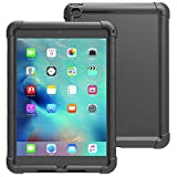iPad Mini 4 Hülle - Poetic [Turtle Series] iPad Mini 4 (4th Gen) Hülle- [Corner / Auto-Schutz] [Grip] [Sound-Amplification] schützende Silikon Hülle für Apple iPad Mini 4 Schwarz (3 Jahre Herstellergarantie von Poetic)